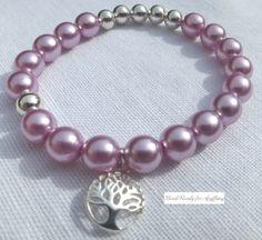 Handmade elastic beaded bracelet Stretch bracelet by BeadReady