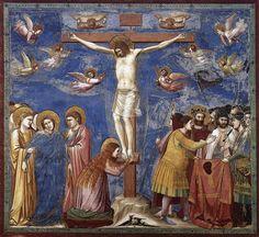 01 Giotto di Bondone. The Crucifixion of Our Lord Christ. Cappella Scrovegni a Padova. Padova ITALY. 1305