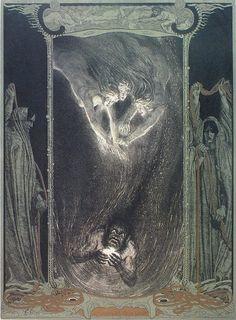 Franz Stassen (1869-1949), Illustration for 'Der Ring Des Nibelungen: Das Rheingold' by Richard Wagner
