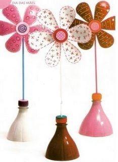 Artesanato Decor e Culinária: Art e Reciclagem para o dia das mães com garrafa pet