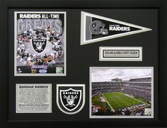 Oakland Raiders Team Line. Perfect decor for a man cave, basement or office! Great gift for the sports fan in your life.