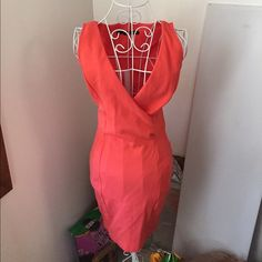 Hot coral dress Condition as shown and reflected in price. This item is in good condition but it has been worn please ask any questions before purchasing. This item will only be traded for an autographed Authentic Chanel original, a Lamborghini, a penthouse in Paris, or the services of an Audi mechanic. All orders will be recorded before shipping. I do not model. Please see my reasonable offer chart before submitting an offer. Zara Dresses
