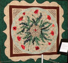 Beautiful combination of Celtic knotwork with traditional applique