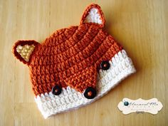 PDF Crochet Pattern ... by Theresa Grant | Crocheting Pattern - Looking for your next project? You're going to love PDF Crochet Pattern - Fox Beanie by designer Theresa Grant. - via @Craftsy