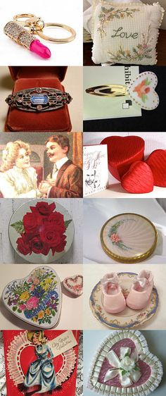 Old Fashioned Romance Vintage Valentines Collection Rose kitchen tins