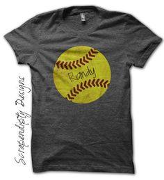 Iron on Softball Shirt PDF - Sports Iron on Transfer / Custom Softball Dad Shirt / Softball Girls Tshirt / Sports Mom Clothing Tee IT492-P by ScrapendipityDesigns on Etsy