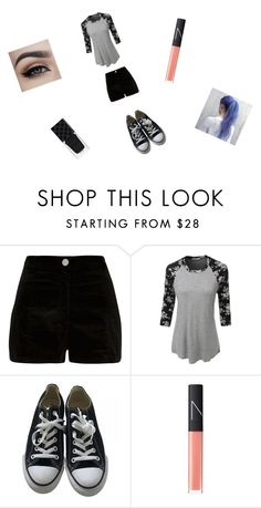"""Yup its for a rp thingy"" by funny-babe02 on Polyvore featuring River Island, LE3NO, Converse, NARS Cosmetics and Gucci"