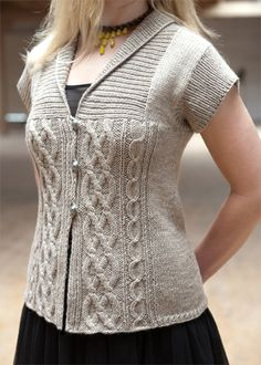 Cable Knitting Pattern - Cabled Cardigan Pattern - Chic Knits Elisbeth Cardi - Downloadable Knitting Patterns - Chic Knits Knitting Patterns...