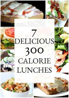 7 Delicious and Satisfying 300 Calorie Lunches Don't skip lunch or nutrition. Enjoy these tasty, healthy and easy, 7 Satisfying, 300 Calorie Lunches to keep you full and happy throughout your busy day. 300 Calorie Dinner, 300 Calorie Lunches, 300 Calorie Breakfast, Dinner Under 300 Calories, 1200 Calorie Meal Plan, Under 300 Calorie Meals, Low Calorie Dinners, Paleo Breakfast, Low Carb Low Calorie