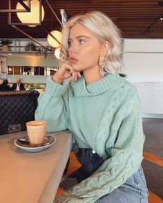 ShopStyle Look by featuring Moth Juliette Turtleneck and Paper London Celilia Ribbed Wool Turtleneck Sweater Winter Fashion Outfits, Fall Winter Outfits, Autumn Winter Fashion, Spring Outfits, Cute Casual Outfits, Chic Outfits, Cloudy Day Outfits, Laura Jade Stone, Brown Blonde Hair