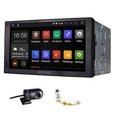 JOYING Quad Core Resolution Automotive in Dash Universal Double Din Android Tablet Car Stereo Radio Audio Head Unit GPS Navigation Support Bluetooth/wifi, with a Car DVR * To view further for this item, visit the image link. Wireless Security System, Home Security Systems, Wireless Headphones For Tv, Bluetooth, Car Brands Logos, Car Audio Systems, Head Unit, Android 4, Android Radio