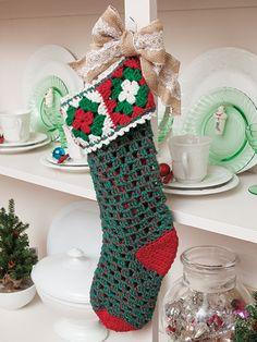Crochet a Christmas Stocking Using Granny Squares