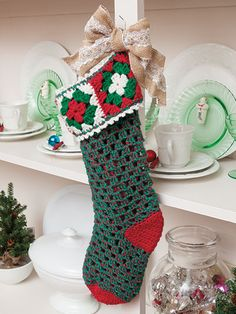 Crochet a Christmas Stocking Using Granny Squares
