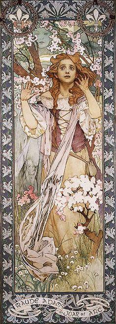 Maude Adams as Joan of Arc (1909), by Alphonse Mucha