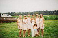 Country Bride & Bridesmaids