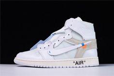 OFF-WHITE x Air Jordan 1 Retro High OG  White  2018 AQC818- fbd9b9bbd