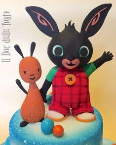Bing Cake, Bing Bunny, Boy Birthday, Birthday Cake, Fondant Animals, Baby Nursery Themes, Cake Toppers, Cake Decorating, Minnie Mouse