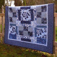 Blue Flower Lap Quilt