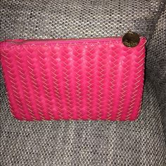 Neiman Marcus clutch Bright pink clutch. Gently worn. Neiman Marcus Bags Clutches & Wristlets