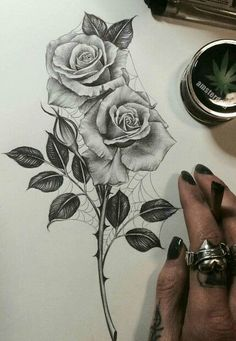 Rose tattoo with an edge