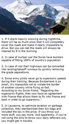 Facts About Switzerland That Will Blow Your Mind