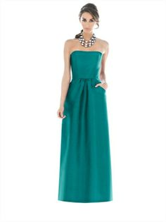 A-line Strapless Straight Neckline Floor Length Bridesmaid Dress BD10086 www.dresseshouse.co.uk £85.0000