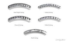 types of diamond settings - Google Search