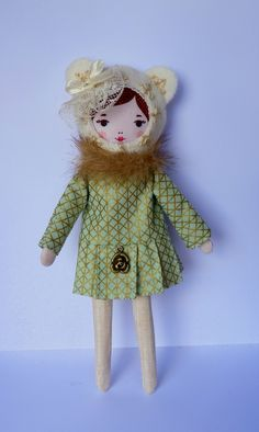 plushie fashionista dolls for big and little girls Mademoiselle DImanche - c'est dimanche doll-