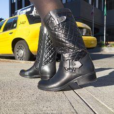 Fall fashion staple: Chic moto boots.