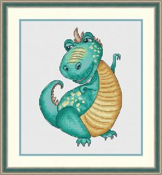 Excited to share the latest addition to my #etsy shop: Dinosaur Cross Stitch Pattern Modern Cross Stitch Dino Pattern Cute Cross Stitch Pattern Funny Xstitch Dragon Embroidery Pattern Needlework #dinosaur #crossstitchpattern #crossstitchdino #dinopattern #dragon https://etsy.me/2KX5coQ