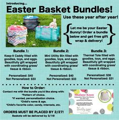 Thirty-One Custom Easter Promotion.