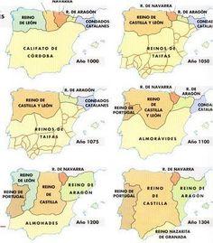 Mapa - La Rebelión Musulmana del Albaicín – La Revuelta de las Alpujarras Spain History, European History, World History, Family History, Historical Maps, Historical Pictures, Geography Map, Old Maps, Social Science