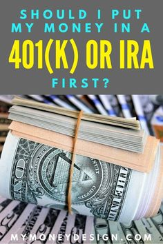 Should I put money in a 401(k) or IRA first? You've heard good things about both, but you're limited on funds. So if you only have to pick one, which is it going to be? In this post, we'll find out which one is the best for your money. Read more at MyMoneyDesign.com