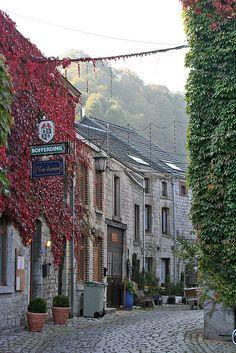 Durbuy, Belgium.  I love little village scenes like this.
