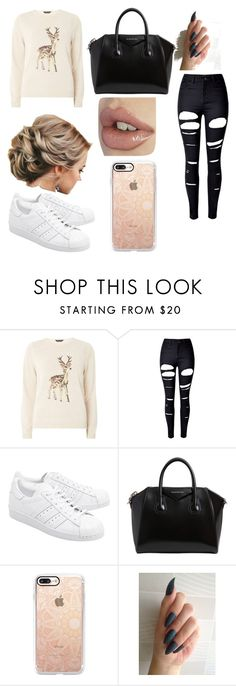 """""""#109"""" by ncandyx ❤ liked on Polyvore featuring Dorothy Perkins, WithChic, adidas Originals, Givenchy and Casetify"""