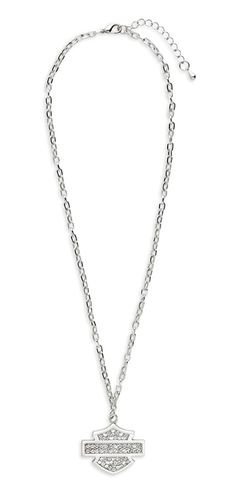 Harley-Davidson® Women's Crystal Bling Bar And Shield Logo Necklace 99412-12VW