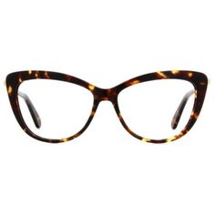 These kate spade new york Mirele eyeglasses feature a cat-eye design that blends sophistication with every day functionality and a hint of playful mystery.  Th…
