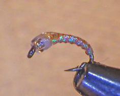 Mercury Epoxy Miracle Midge Pearl #20 Fly Fishing Flies Trout Flies Wet