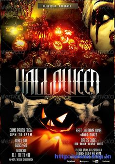50 Best Halloween Party Flyers Print Templates 2013 | Frip.in