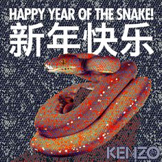 Happy Year of the Snake ! Kenzo