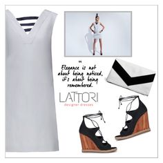 """LATTORI dress"" by water-polo ❤ liked on Polyvore featuring Lattori, Tory Burch, Boohoo, polyvoreeditorial and lattori"