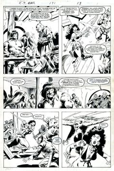conan the barbarian 140 cover by john buscema pencil prelim comic art my shiet pinterest. Black Bedroom Furniture Sets. Home Design Ideas