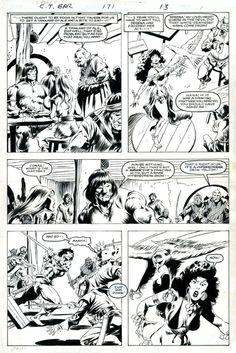 conan the barbarian 140 cover by john buscema pencil prelim comic art my shiet pinterest. Black Bedroom Furniture Sets. Home Design Ideas