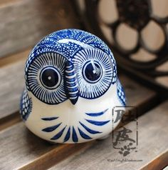 Chinese Blue And White Porcelain Ceramic Owl Home Decoration Craft Gift -inCrafts from Home & Garden on Aliexpress.com