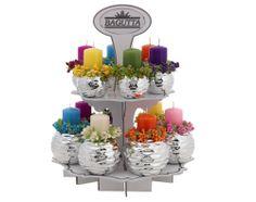kit 16 pezzi porta candela con espositore 45h http://www.glesa.it/articoli/20505
