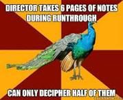 Thespian Peacock... Lol so true. And often quite amusing.