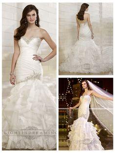 Trumpet Mermaid Beaded Sweetheart Dreaped Bodice Wedding Dresses with   Layered Skirt http://www.ckdress.com/trumpet-mermaid-beaded-sweetheart-dreaped-  bodice-wedding-dresses-with-layered-skirt-p-508.html  #wedding #dresses #dress #lightindream #lightindreaming #wed #clothing   #gown #weddingdresses #dressesonline #dressonline #bride