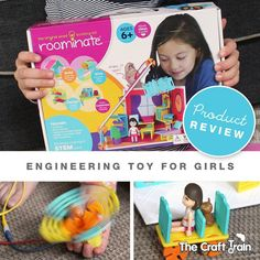 This Engineering toy helps girls to develop hands-on problem solving skills, creativity and confidence in technology. I love that it includes a simple electric circuit to build!