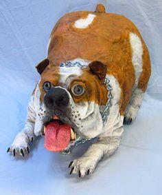 This is an amazing website about paper mache!  Dan Reeder's paper mache dog