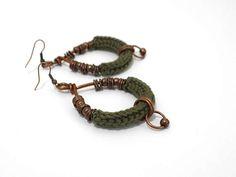 Boho chic earringscrochet earringstribal earringsethno chic